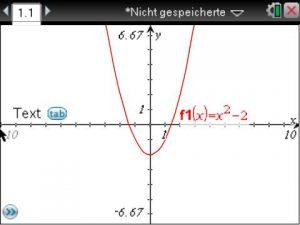 Im Folgenden wird die Nullstelle der Funktion f(x)=x²-2 bestimmt.